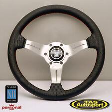 Nardi Steering Wheel DEEP CORN Perforated Leather white spoke 330mm 6069.33.1093