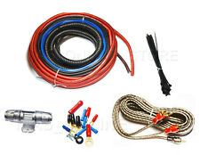 BULLZ AUDIO Car Amplifier Amp Installation Power Wiring Kit BGE8RP Car 8 GAUGE