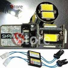 2 Lampade T10 Led 6 SMD 5630 No Errore CDB Canbus Luci BIANCO + 2 RESISTENZE