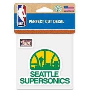 "Seattle Super Sonics Perfect Cut 4""x4"" Color Decal [NEW] NBA Auto Sticker Emblem"