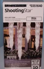 Gemmy Lightshow 10 Shooting Star White Clear LED Christmas Icicle Lights 351640