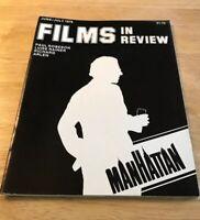 Vintage Films in Review Magazine June/July 1979 - Manhattan Woody Allen