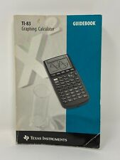1996 Ti-83 Texas Instruments Graphing Calculator Guidebook Manual Only