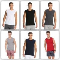 Jockey Mens Sports T Shirt 100% Comb cotton Muscle Tee Sleeveless Crew Shirts