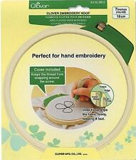 "Clover Embroidery Hoop - 7"" - Edge of the Inner Hoop Grips the Fabric Firmly"