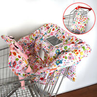 Foldable Baby Shopping Trolley Cart Seat Pad Kid Chair Cover Protective Mat