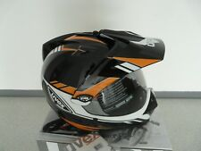 Casco de moto integral CASCO CROSS Uvex ENDURO 3 en 1 Negro Naranja Shiny M