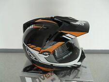 Casco para motocicleta Uvex jefe 525 DS Pola blanco /negro - brillante talla XL