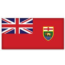 """MANITOBA Canada Flag car bumper sticker decal 5"""" x 3"""""""