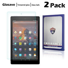 [2-Pack] Tempered Glass Screen Protector For Amazon Kindle Fire HD 10