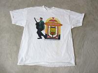 VINTAGE Elvis Presley Legends & Heroes Concert Shirt Adult Extra Large White *
