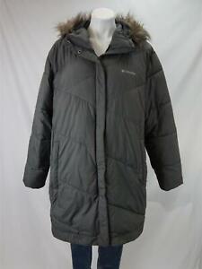 Columbia Faux Fur Hooded Puffer Coat Gray Women's 3X