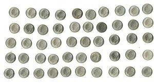One roll of fifty (50) high grade 1947 s silver Roosevelt dimes