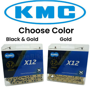 KMC X12 12 Speed Chain Gold Ti OR Black & Gold Ti 126L MTB Bike fit Sram Eagle