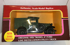 YORKSHIRE YORKSHIRE 1931 MODEL A FORD LINE INSTALLATION  UTILITY TRUCK 1/25