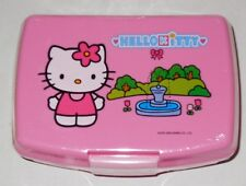 Vintage Hello Kitty Sanrio Pink Plastic lunch Box Container Snacks Sealed