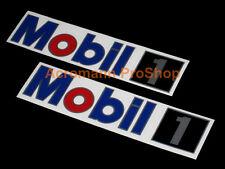 "2x 15"" 38cm MOBIL 1 decal sticker ONE motor oil NASCAR F1 DTM BTCC lubricant gas"