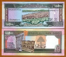 Lebanon, 500 Livres, 1988, P-68, UNC > Beirut