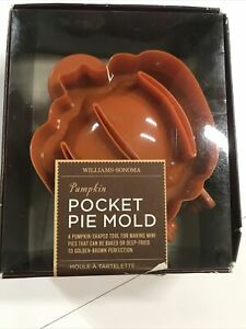 Williams Sonoma Pocket Pie Pastry Mini Hand Pies Turnover Pumpkin Shaped Mold