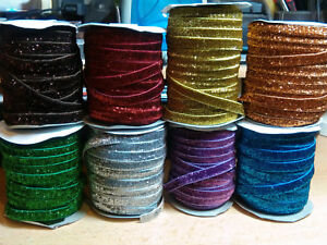 1m. Glitter Flat Elastic Lingerie Bra width-10mm (16-Colours)