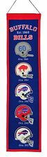 """Buffalo Bills NFL Embroidered Wool Heritage 32"""" Banner Pennant"""
