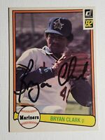 1982 Donruss Bryan Clark RC Auto Autograph Card Mariners Signed #596