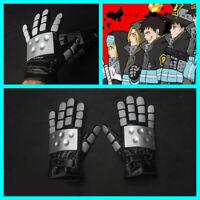 Anime Enn Enn No Shouboutai Fire Force Cosplay Gloves PU Full Finger Gloves Prop
