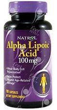 Natrol R-Lipoic Acid & Alpha Lipoic Acid 50/50 Ratio - 100mg x100 SUPERSELLER!!