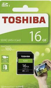 Toshiba 16Gb N203 UHS-I Class 10 SDHC Memory Card (UK Stock) BNIP