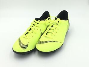 Nike Mercurial Vapor 12 GS Boy's Soccer Cleats Size 3.5Y Neon Yellow