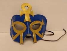 Hand-Made Leather Egyptian Ankh Goddess Mask, Artist-Signed