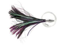 Williamson Flash Feather , Black / Purple, 4 Inch