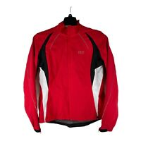 Gore Bike Wear Womens Large Red Black Windstopper Packable Light Cycling Jacket