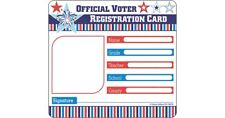 Voter Registration Card Cut-Outs Carson Dellosa CD-120219
