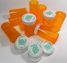 25  Prescription Medicine Plastic Storage Bottles & Lids Dram 8 Size-BRAND NEW