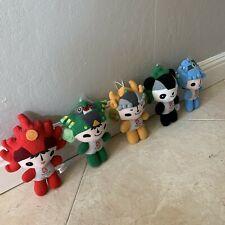 Authentic 2008 Beijing Olympic Mascots Plush Stuffed - Set of 5