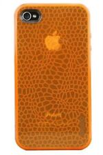 Gecko Gear GLOW in the Dark Case - Orange + Anti-Glare Guard for iPhone 4/4s