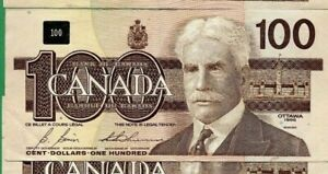 Bonin Thiessen  1988 Canada 100 dollar One Hundred dollars Canadian   One Note