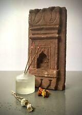 ANTIQUE INDIAN STONE NICHE. RED SANDSTONE.  OIL / GHEE LAMP.