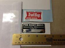 FOX Trailbug mini bike decals decal sticker Trail
