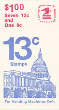 U.S. COMBO BOOKLET OF 8 SCOTT #BK131 1977 13ct FLAG OVER CAPITOL MINT
