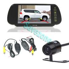 "Mini Wireless Car Rear View Kit Reversing Camera + 7"" TFT LCD Mirror Monitor"
