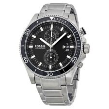 FOSSIL WAKEFIELD CHRONOGRAPH DATE BLACK DIAL ST.STEEL MEN'S WATCH CH2935 NEW