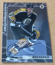 2000 ITG In The Game Hockey Jarno Kultanen Autograph Card
