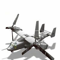 Military Series Us V22 Osprey Tiltrotor Aircraft Model Building Blocks Brick Toy