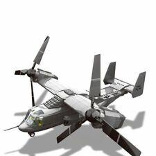 Military Series  Us V22 Osprey Tiltrtor Aircraft Model Building Blocks Brick Toy