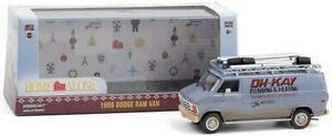 Greenlight 86560 Home Alone 1986 Dodge Ram Van Oh-Kay Plumbing & Heating 1:43 Sc