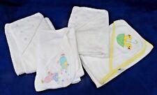 4 DESIGNER HOODED BABY TOWELS TADPOLES, ABSORBA, ANICHINI