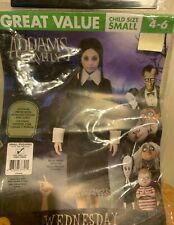 Adams Family Wednesday Kids Halloween Costume Kids 4-6 Brand New $12.00