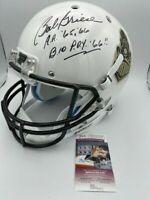 Bob Griese Signed Purdue White Train Logo Full Size Helmet JSA COA Pic 2x insc
